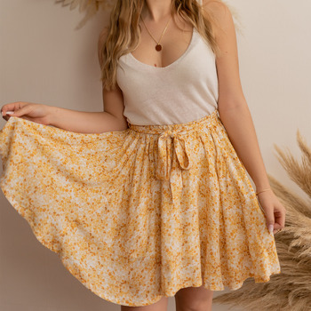 Vêtements Femme Jupes Céleste EGLANTINE Jaune / Blanc
