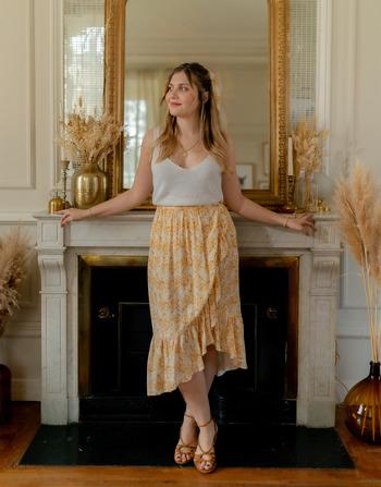 Vêtements Femme Jupes Céleste TOURTERELLE Jaune / Blanc