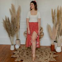 Vêtements Femme Jupes Céleste TOURTERELLE Rouge / Multicolore