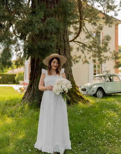 Vêtements Femme Robes longues Céleste AURORE Blanc