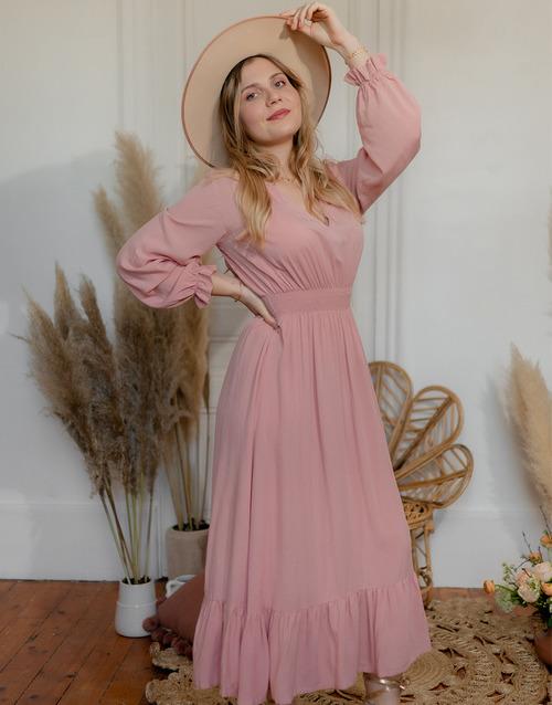 Vêtements Femme Robes longues Céleste COLOMBE Rose