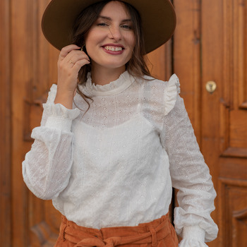 Vêtements Femme Tops / Blouses Céleste HIRONDELLE Blanc
