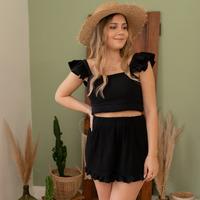Vêtements Femme Shorts / Bermudas Céleste MAGNOLIA Noir