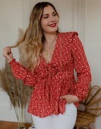 Vêtements Femme Tops / Blouses Céleste ROSSIGNOL Rouge / Multicolore