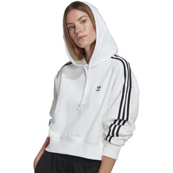 Vêtements Femme Sweats adidas Originals SHORT FELPA CON CAPPUCCIO BIANCA Blanc