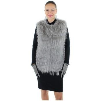 Vêtements Femme Gilets / Cardigans Oakwood Gilet fourrure ref_cco34175-gris Gris