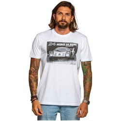 Vêtements Homme T-shirts manches courtes Classic Legend Motors Tee-shirt  ref_50357 Noir/Blanc Noir