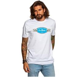 Vêtements Homme T-shirts manches courtes Classic Legend Motors Tee-shirt  ref_50341 Blanc/Bleu Bleu
