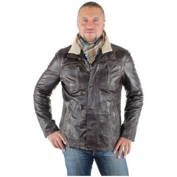 Veste Veste en cuir ref_donders34255-marron - Pallas Cuir - Modalova