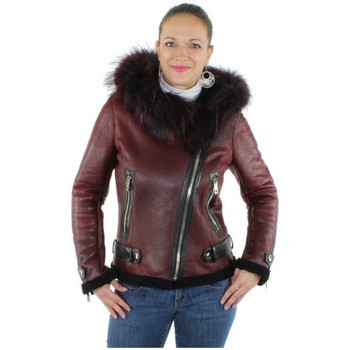 Vêtements Femme Blousons Giorgio Cuirs blouson mouton retourne ref-gio33230-rouge Rouge