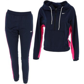 Vêtements Femme Ensembles de survêtement Reebok Sport Linear logo hoodie ensemble w Bleu marine / bleu nuit