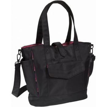 Sacs Femme Cabas / Sacs shopping Isotoner Sac petit cabas Noir/rayure Aurore