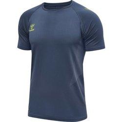 Vêtements Homme T-shirts manches courtes Hummel Maillot d'entrainement bleu/jaune