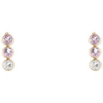 Montres & Bijoux Femme Boucles d'oreilles Mes-Bijoux.fr Boucles d'oreilles Or jaune 375/1000 et pierres Doré