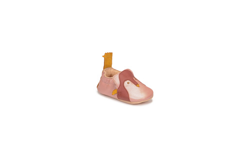 Chaussures Fille Chaussons Easy Peasy BLUMOO PINGUOIN MOU ROSE BABA MOU/CUIR