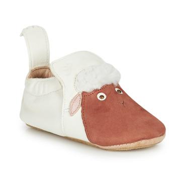 Chaussures Enfant Chaussons Easy Peasy BLUBLU MOUTON Blanc