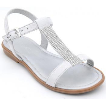 Chaussures Fille Sandales et Nu-pieds Reqin's tilssi peau Argenté