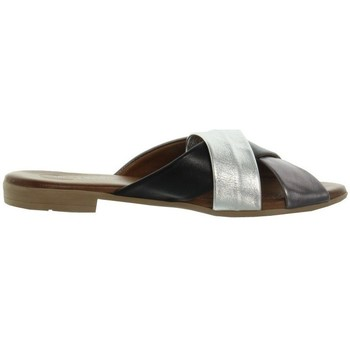 Chaussures Femme Mules Lune Et L'autre Sandales  ref_46038 Noir Gris