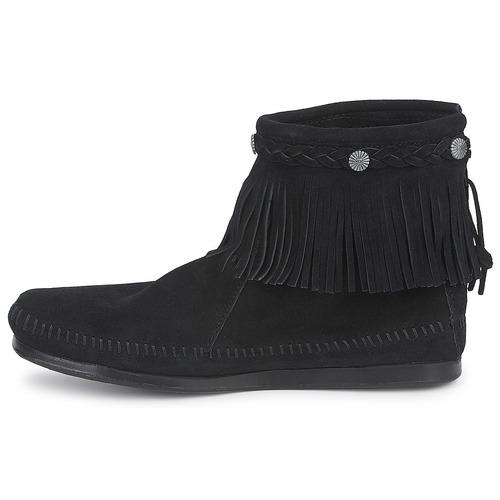 Noir Top Zip Femme Hi Boots Back Boot Minnetonka 80OwnPkX