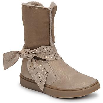 Chaussures Fille Bottes ville GBB EVELINA Beige