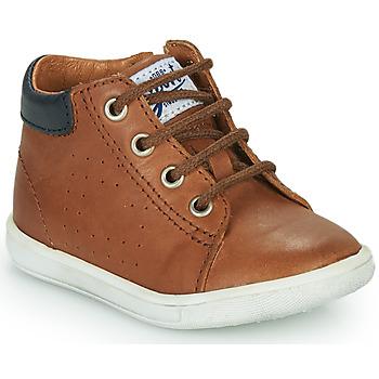 Chaussures Garçon Baskets montantes GBB FOLLIO Marron