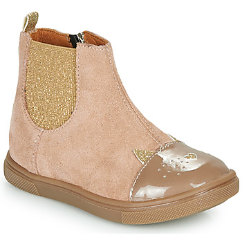 Chaussures Fille Boots GBB JESSINE Beige