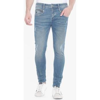 Vêtements Homme Jeans slim Japan Rags Varel 900/15 tapered jeans destroy bleu n°3 BLUE