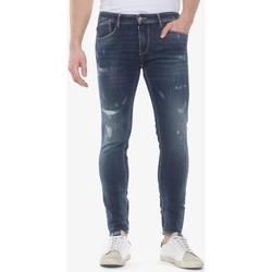 Vêtements Homme Jeans slim Japan Rags Power skinny 7/8ème jeans destroy bleu n°1 BLUE