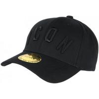 Accessoires textile Casquettes Hip Hop Honour Casquette ICON Noire Streetwear Design Baseball Fyck Noir