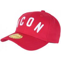 Accessoires textile Casquettes Hip Hop Honour Casquette ICON Rouge et Blanche Streetwear Design Baseball Fyck Rouge