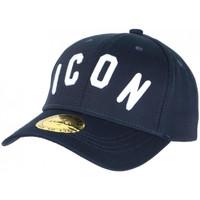 Accessoires textile Casquettes Hip Hop Honour Casquette ICON Bleue et Blanche Streetwear Baseball Fyck Bleu