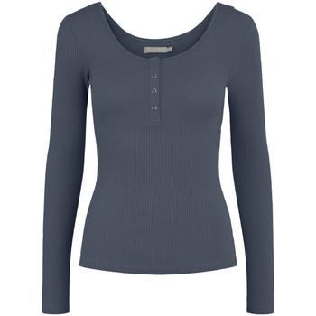 Vêtements Femme T-shirts manches longues Pieces 17101437 bleu