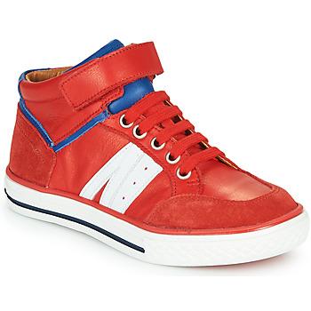 Chaussures Garçon Baskets montantes GBB ALIMO Rouge