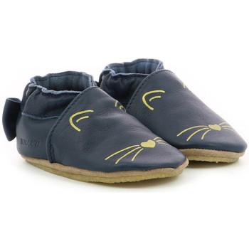 Chaussures Fille Chaussons bébés Robeez Goldy Cat Crp MARINE