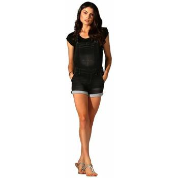 Vêtements Femme Combinaisons / Salopettes Waxx Salopette joggjean ATLANTIC Noir Bandes