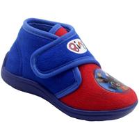 Chaussures Garçon Chaussons bébés Easy Shoes - Pantofola rosso/azzurro BNP7715 ROSSO