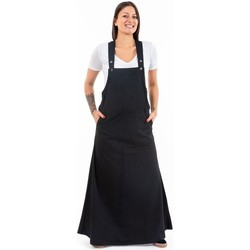 Vêtements Femme Robes longues Fantazia Robe salopette femme coton doux Milhana Noir