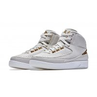 Chaussures Baskets montantes Nike Air Jordan 2 Quai 54 Light Bone/Metallic Gold-White