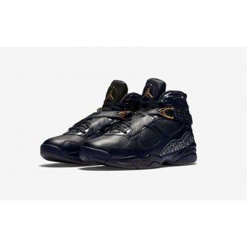 Chaussures Baskets montantes Nike Air Jordan 8 Confetti Black Black/Metallic Gold-Anthracite