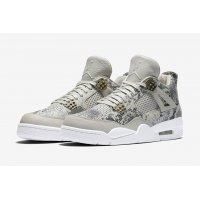 Chaussures Baskets montantes Nike Air Jordan 4 Pinnacle Snakeskin Light Bone/White-Pure Platinum-Wolf Grey