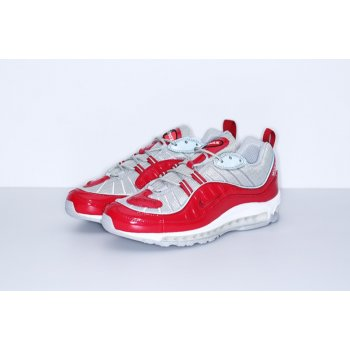 Chaussures Baskets basses Nike Air Max 98 x Supreme Red Red/Reflect Silver-White/Varsity Red