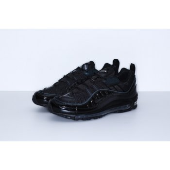 Chaussures Baskets basses Nike Air Max 98 x Supreme Black Black/Black-Black