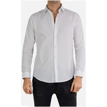 Vêtements Homme Chemises manches longues Kebello Chemise Slim fit Taille : H Blanc S Blanc