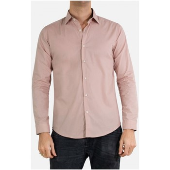Vêtements Homme Chemises manches longues Kebello Chemise Slim fit Taille : H Rose S Rose