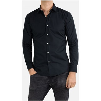 Vêtements Homme Chemises manches longues Kebello Chemise Slim fit Taille : H Noir S Noir