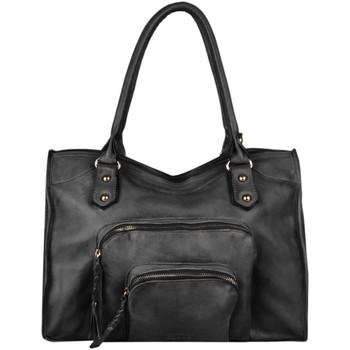 Sacs Femme Sacs porté épaule Basilic Pepper Sac porté épaule A4 Pop cuir POP 16C-00BPOC31 BLACK
