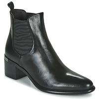 Chaussures Femme Bottines Adige DIVA V1 VEAU GARNET NOIR Noir
