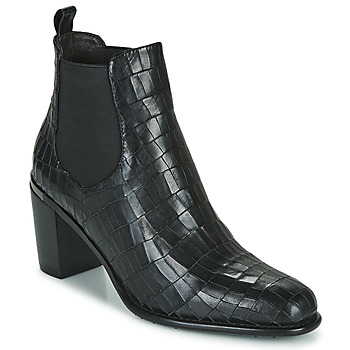 Chaussures Femme Bottines Adige FANNY V5 CROCO NOIR Noir