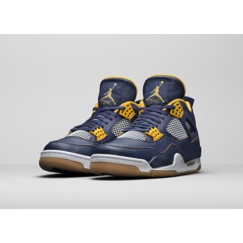 Chaussures Baskets montantes Nike Air Jordan 4 Dunk From Above Midnight Navy/Yellow-White-Gum