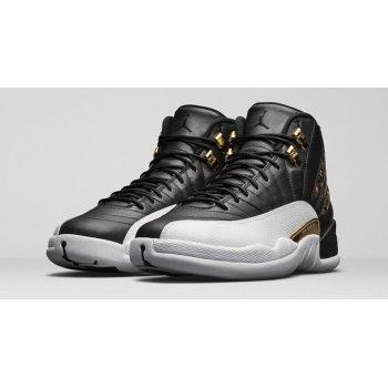 Chaussures Baskets montantes Nike Air Jordan 12 Wings Black/Metallic Gold-White